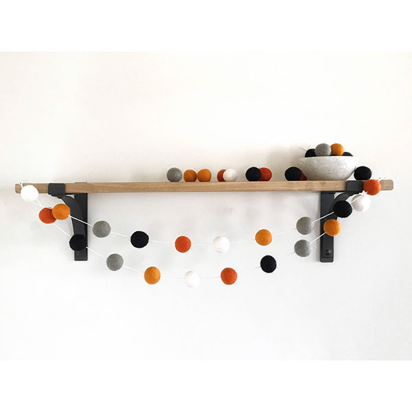 Handmade Halloween Felt Ball Garland