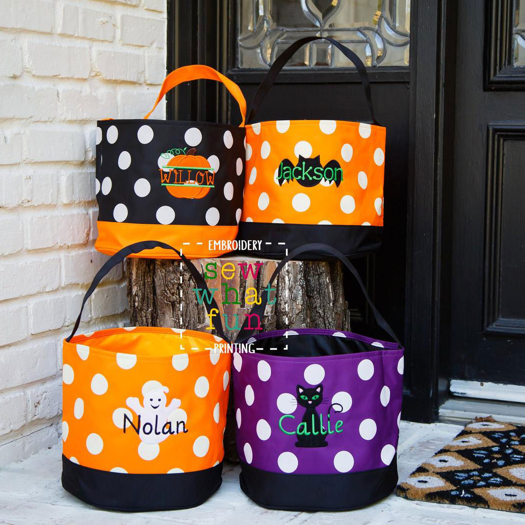 Monogrammed Trick or Treat Bucket