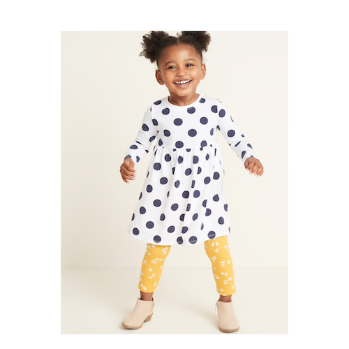 GAP Fit & Flare Jersey Dress for Toddler Girls