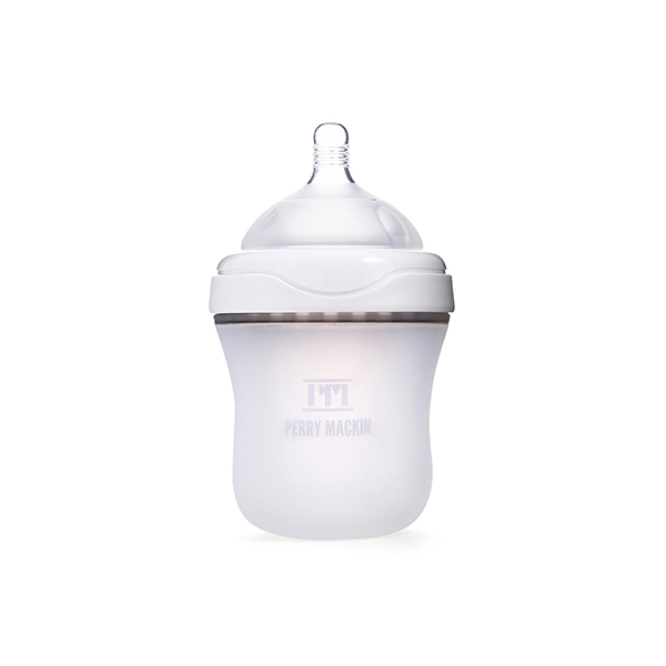 Perry Mackin Natural Feel Soft, Silicone Baby Bottle