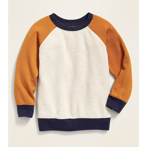 Old Navy Color-Blocked French-Rib Raglan Pullover for Toddler Boys