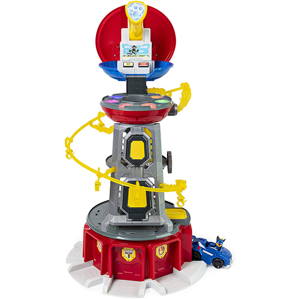 Nickelodeon PAW Patrol Mighty Pups Super Paws Lookout Tower Playset with Lights and Sounds