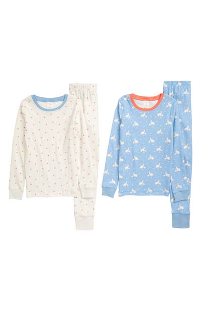 Mini Boden 2-Pack Fitted Two-Piece Pajamas
