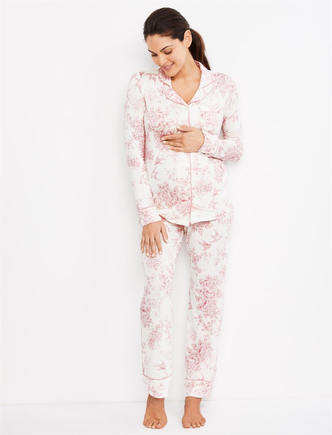 Button- Front Nursing Pajamas