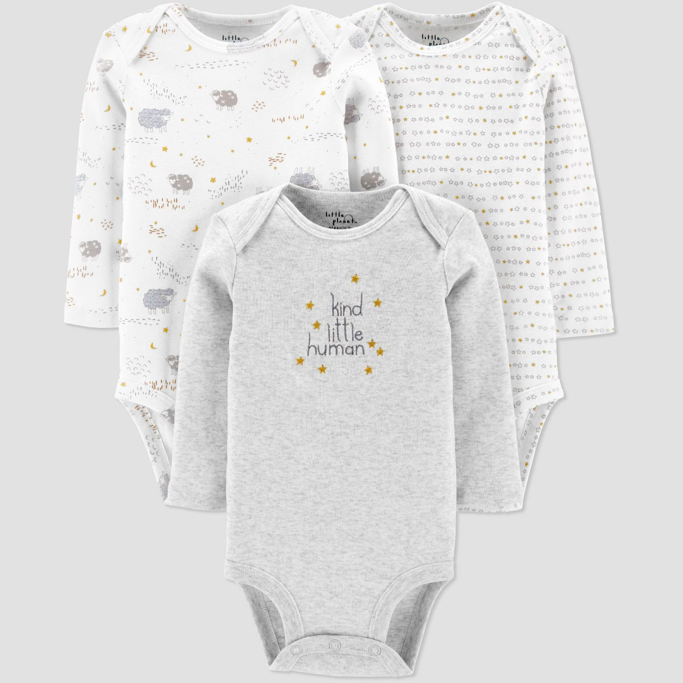 Little Planet Organic by Carter's Baby Three-Piece Bodysuits