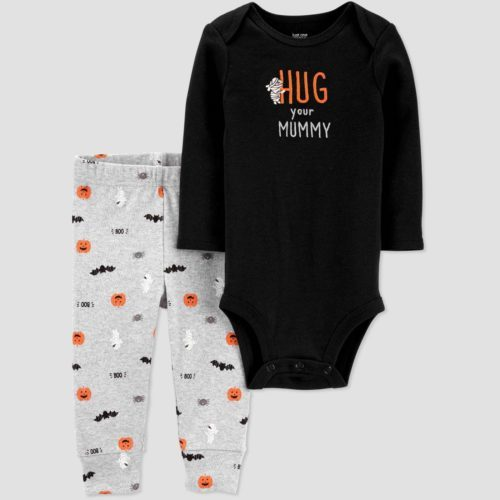 Carter's  Just One You Baby Halloween 'Hug your Mummy'  Top and Bottom