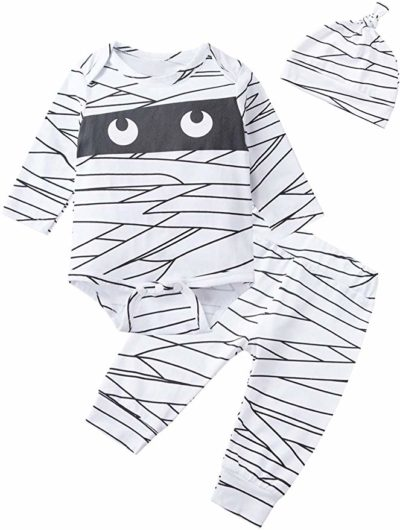 Catmama My First Halloween Baby Bodysuit and Hat Set