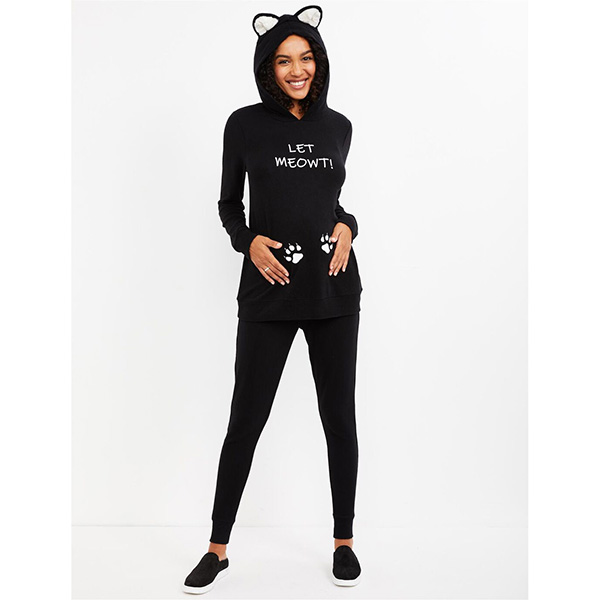 Motherhood Let Meowt Maternity Halloween Costume