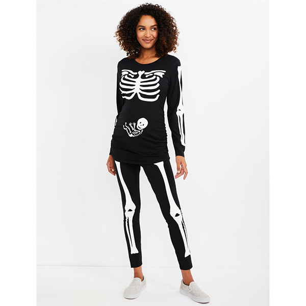 Motherhood Skeleton Maternity Halloween Costume