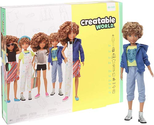 Mattel Creatable World Deluxe Character Kit Customizable Doll, Blonde Curly Hair