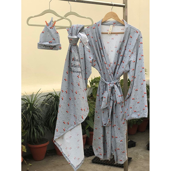 Fox Robe and Swaddle Set