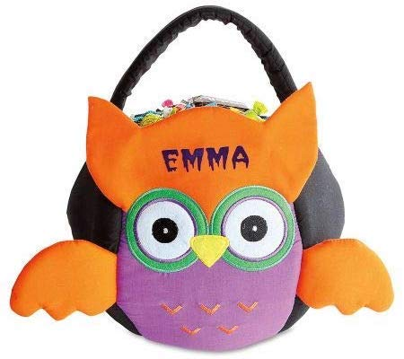 Lillian Vernon Personalized Owl Halloween Candy Basket