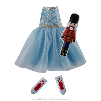 The Elf on the Shelf Claus Couture Collection Snowy Sugar Plum Duo Dress