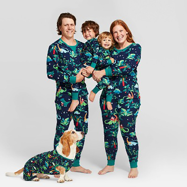 Holiday Festive Dinosaurs Family Pajamas Collection