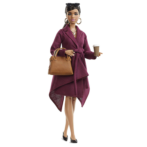 Barbie Signature Styled by Chriselle LIM Collector Doll in Burgundy Trench Dress
