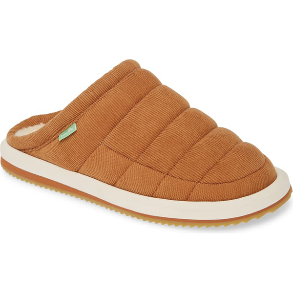 Sanuk Puff N Chill Low Cord Quilted Mule Slippers