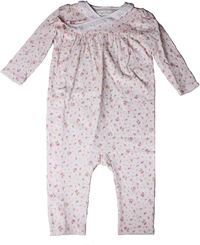 Ralph Lauren Baby Girls Pink Floral One Piece Coverall
