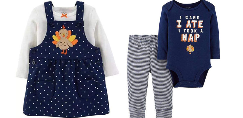 Mom and Dad will be cooking up plenty of good stuff for Thanksgiving dinner, but nothing nearly as sweet as these delightful holiday outfits for kids. Your little turkey will be all set to shake a tail feather in adorable…