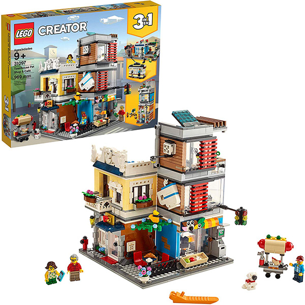 LEGO Creator 3-in-1 Townhouse Pet Shop and Cafe Store Building Set