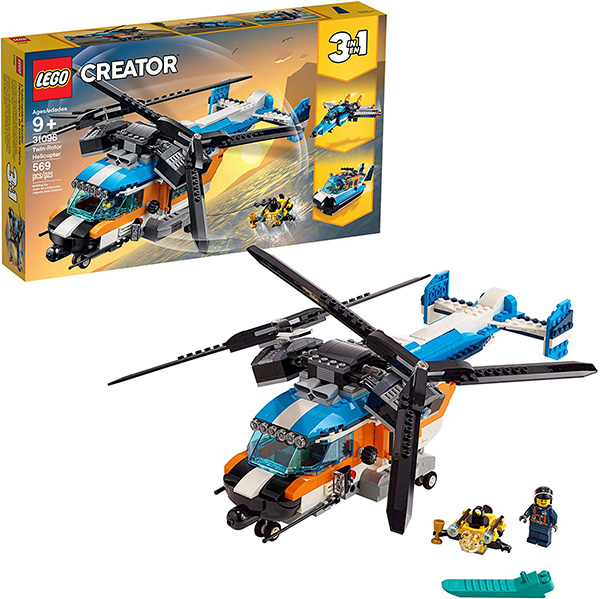 LEGO Creator 3-in-1 Twin-Rotor Helicopter Set