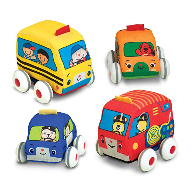 Melissa & Doug Pull-back vehicles, Soft Baby and Toddler Toy Set