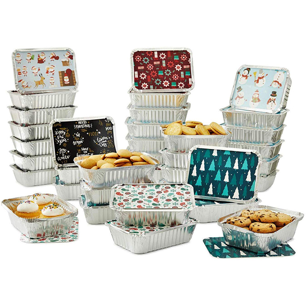 Holiday Foil To-Go Containers