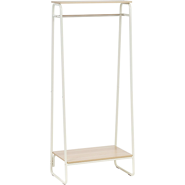 IRIS Metal Garment Rack with Wood Shelf