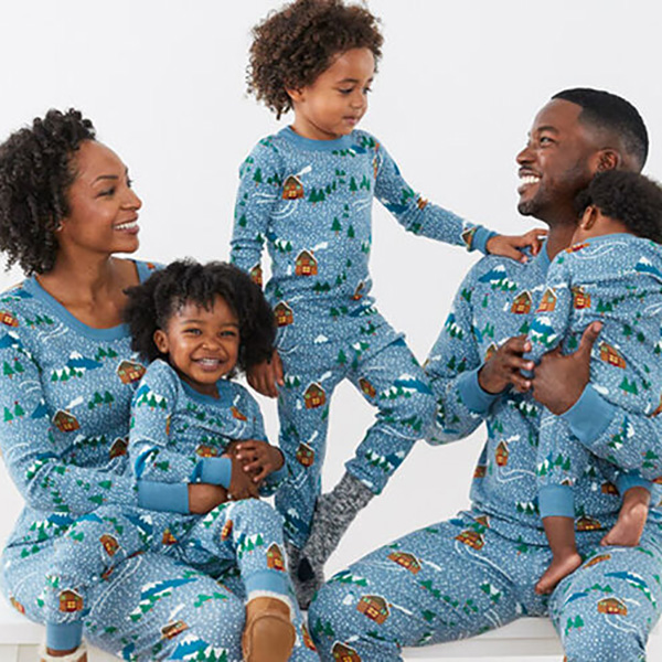 Hanna Andersson Snowy Cottages Matching Family Pajamas