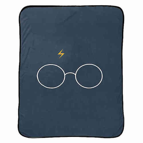 Harry Potter Glasses Throw Blanket