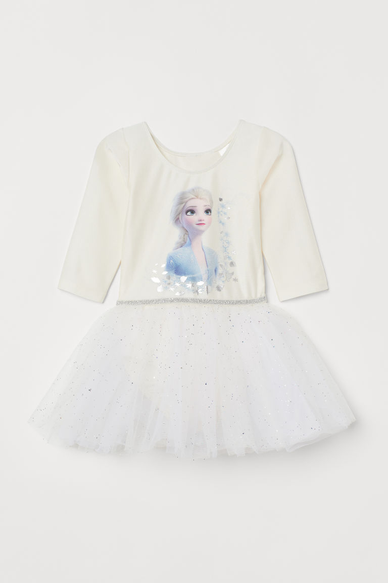 H&M Frozen 2 Leotard with Tulle Skirt