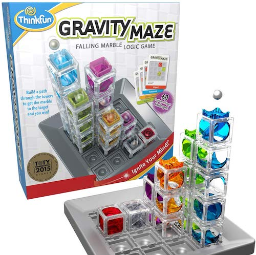 ThinkFun Gravity Maze Marble Run Logic Game and STEM Toy for Boys and Girls