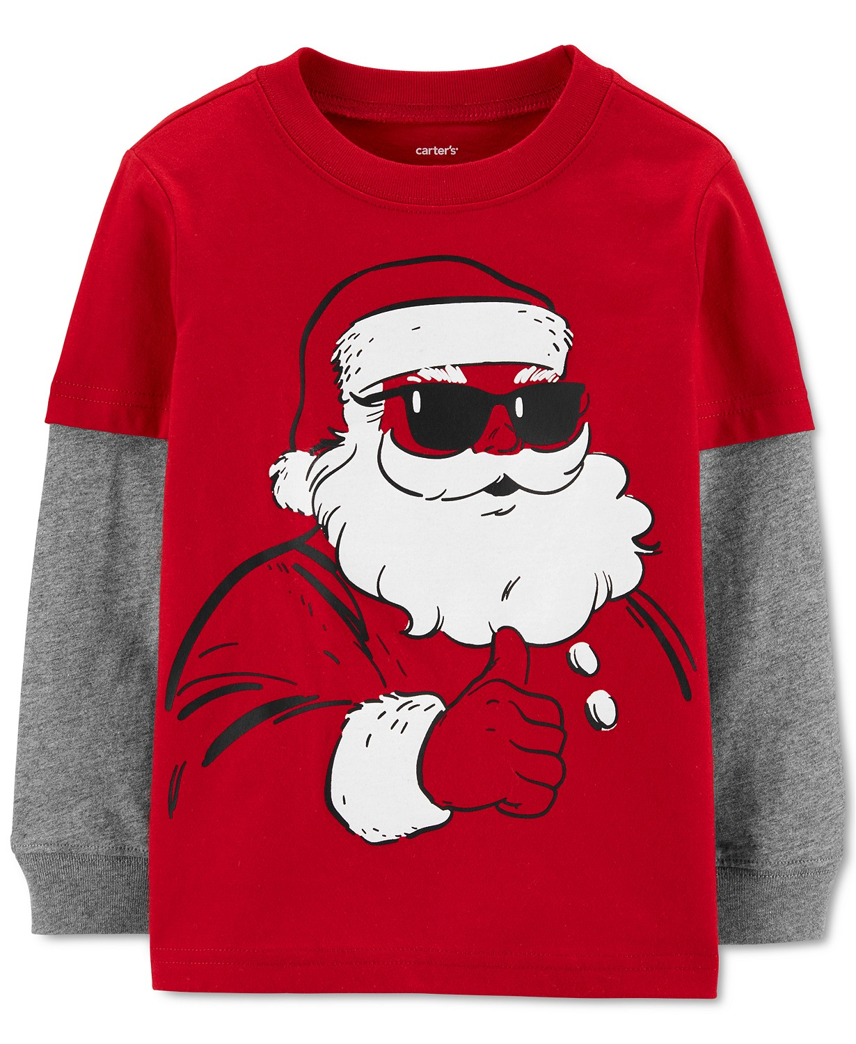 Carter's Toddler Boys Cotton Santa Claus Thermal Top