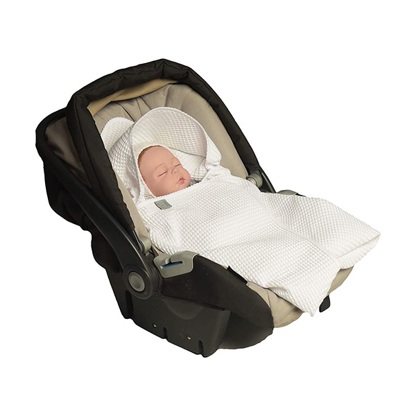 MoMika Classic Swaddling Blanket with Universal Car Seat Fit