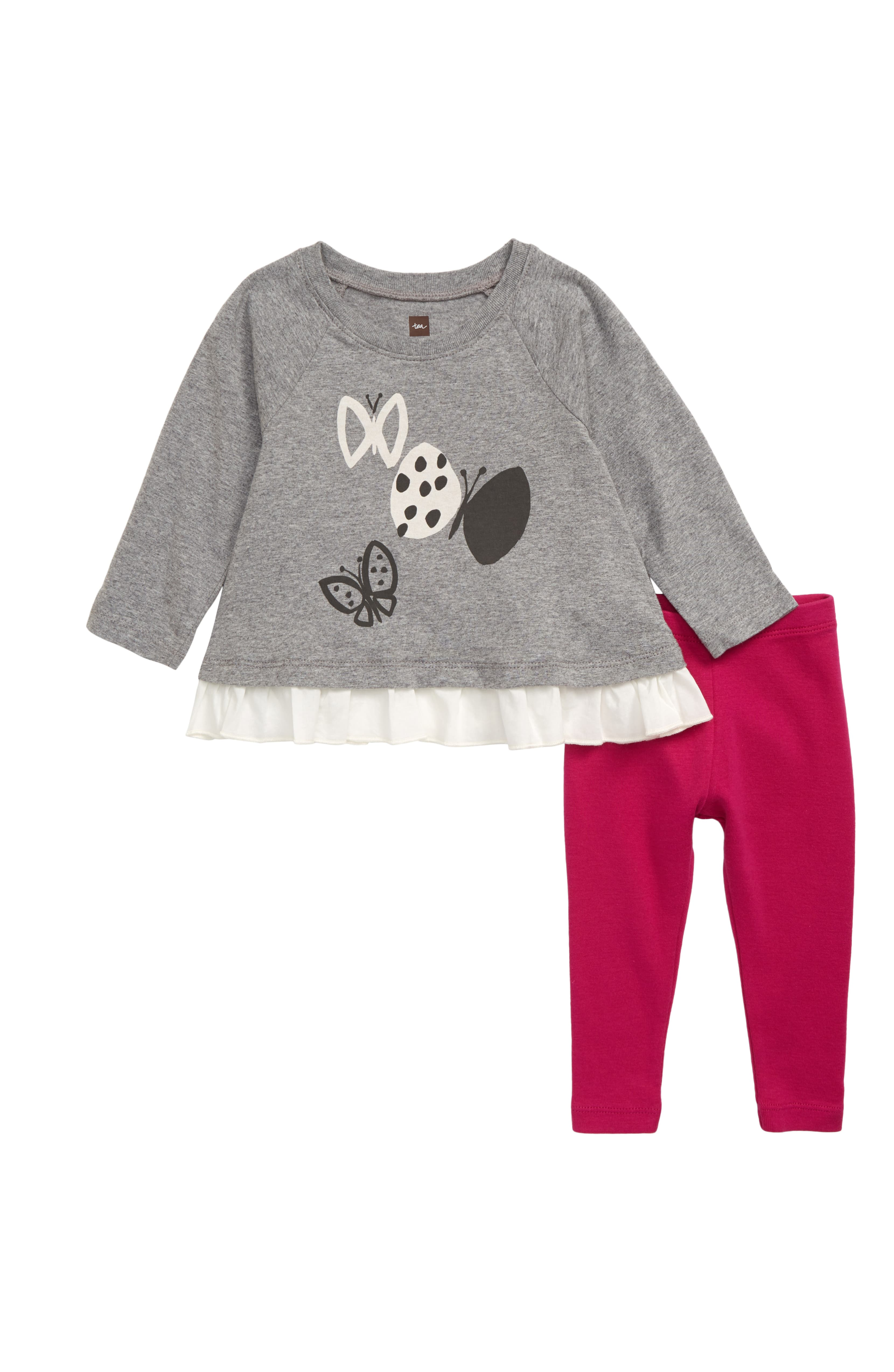 Tea Collection Butterfly Graphic Top & Leggings Set