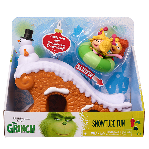 Dr. Seuss' The Grinch Snow Tube Fun Playset