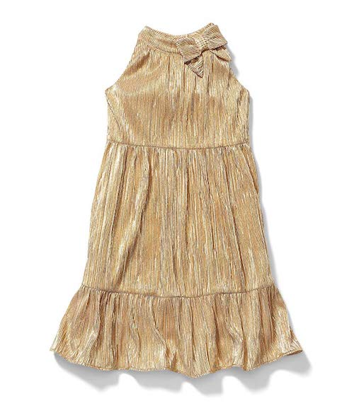 Rachel Zoe x Janie and Jack Party Collection Gold Lurex Plisse Maxi Dress