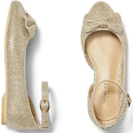 Rachel Zoe x Janie and Jack Party Collection Metallic Bow Flats