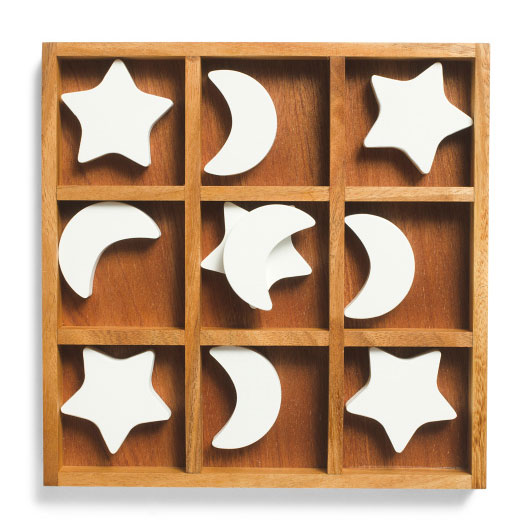Star And Moon Tic Tac Toe