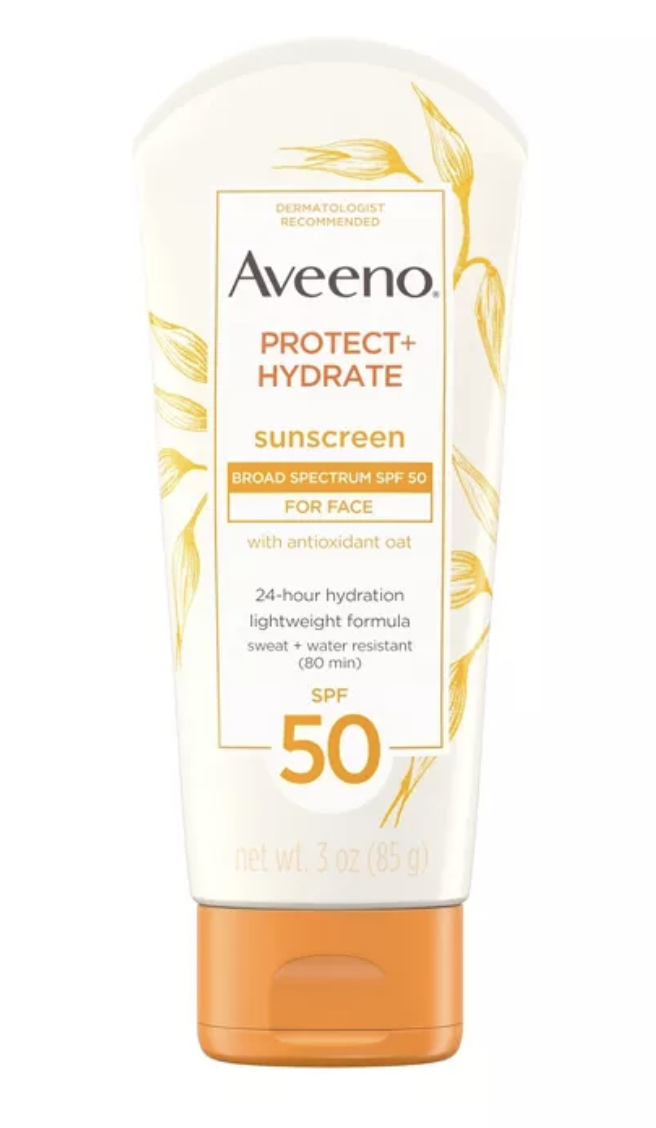 Aveeno Protect Hydrate Face Sunscreen Lotion SPF 50