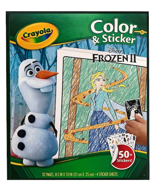 Crayola Frozen 2 Color and Sticker Book