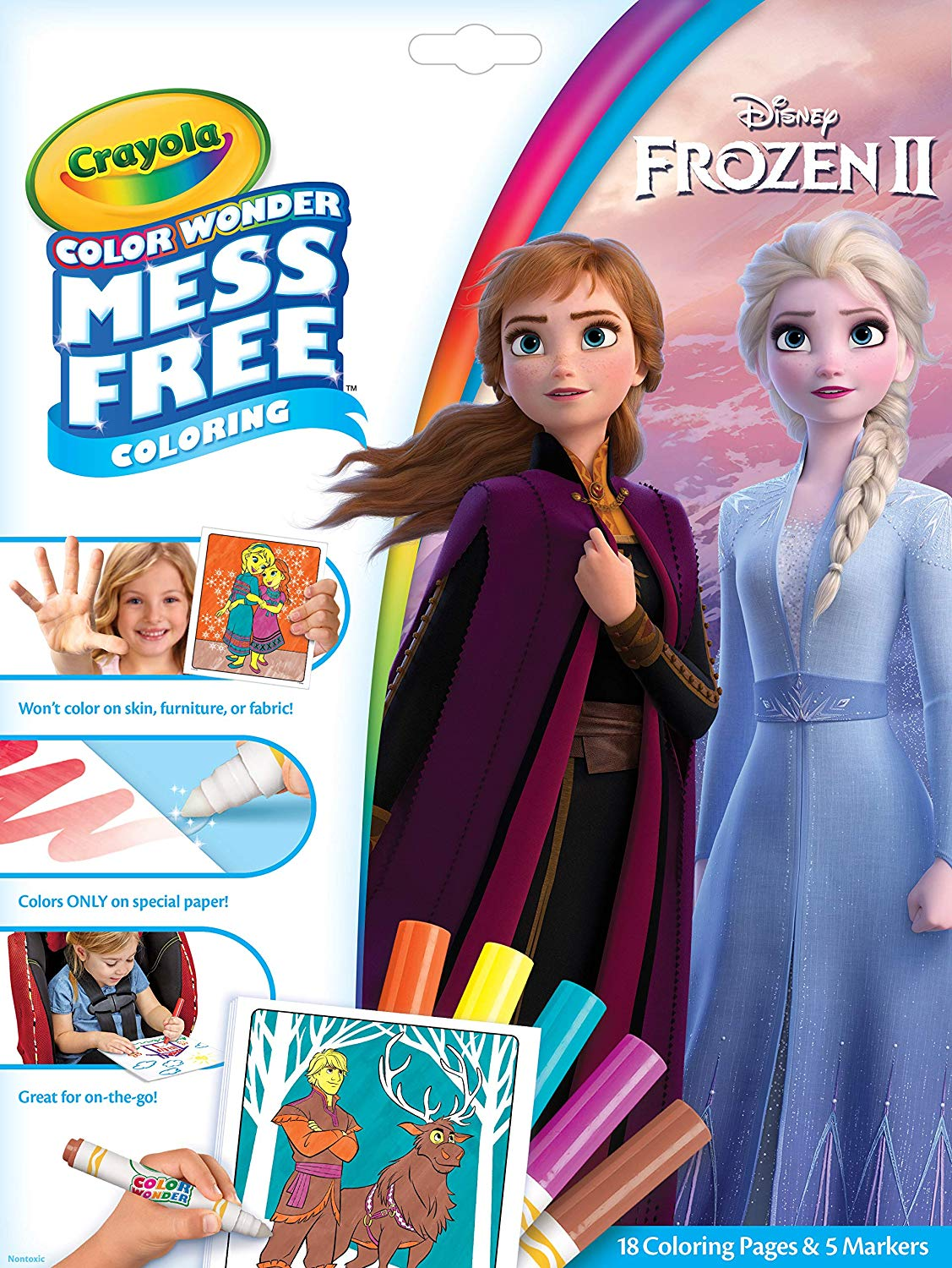 Crayola Frozen 2 Color Wonder Mess Free Coloring Pages and Markers