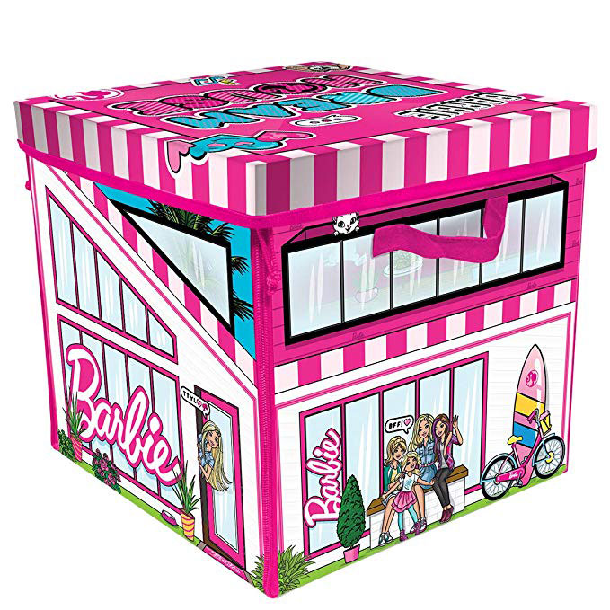Barbie Doll Dream House Toy Box & Playmat