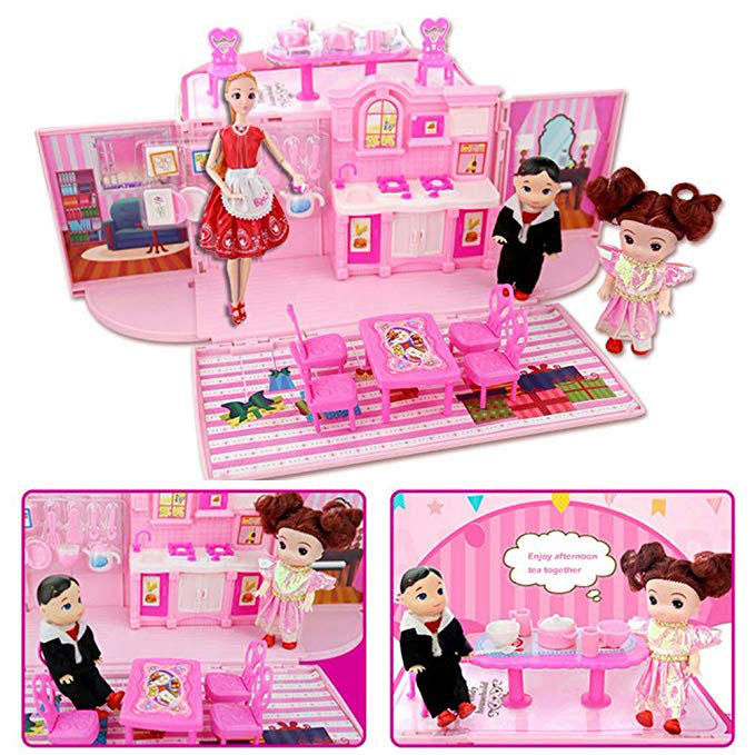 O-Toys Mini Fold & Go Dollhouse