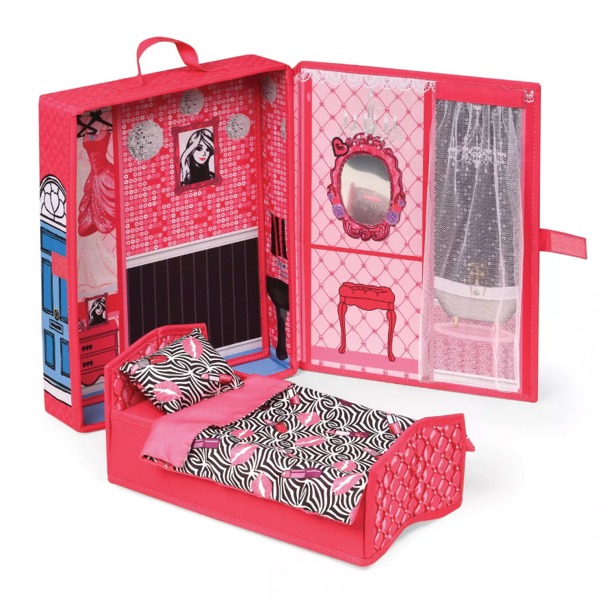 Home & Go Dollhouse Playset Travel & Storage Case