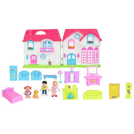 Velocity Toys Pretend Play Toy Family House Dollhouse
