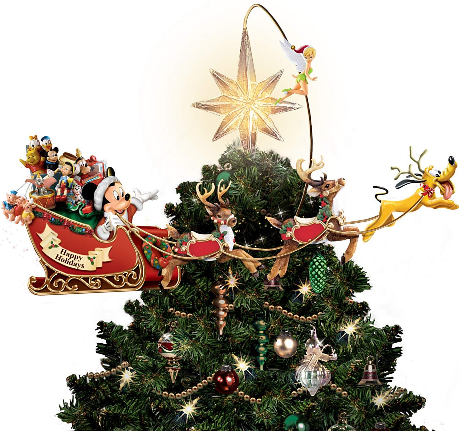 Bradford Exchange Disney's Timeless Holiday Treasures Tree Topper