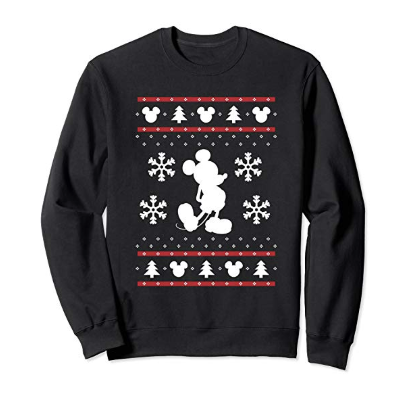 Disney Mickey Mouse Christmas Sweater Print Sweatshirt