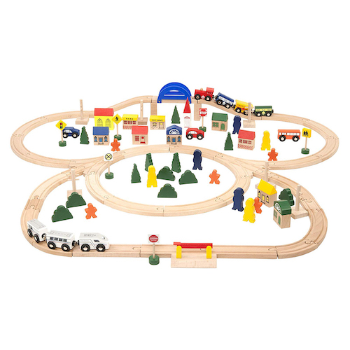 Battat Deluxe Wooden Train Set