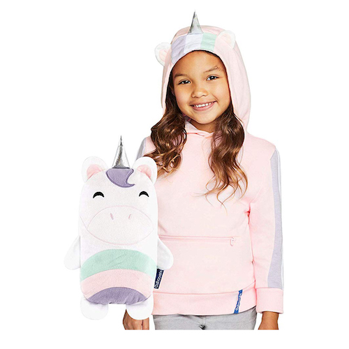 Cubcoats Uki The Unicorn 2-in-1 Transforming Hoodie and Soft Plushie