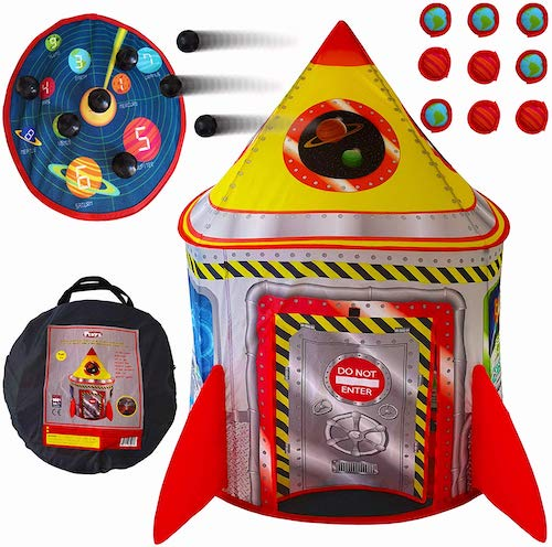 Playz 5-in-1 Rocket Ship Play Tent for Kids